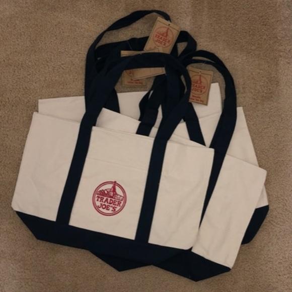 Trader Joe's Handbags - NWT 4 Trader Joe's Reusable Canvas ♻️Eco Tote Bag